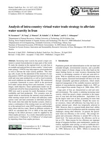 Analysis of Intra-country Virtual Water ... by Faramarzi, M.