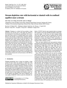 Stream Depletion Rate with Horizontal or... by Tsou, P.-r.