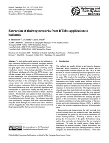 Extraction of Thalweg Networks from Dtms... by Thommeret, N.