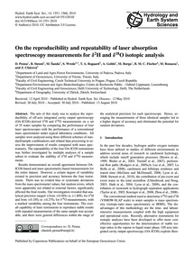 On the Reproducibility and Repeatability... by Penna, D.