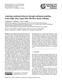 Analyzing Catchment Behavior Through Cat... by Uhlenbrook, S.