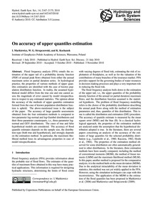 On Accuracy of Upper Quantiles Estimatio... by Markiewicz, I.