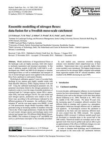 Ensemble Modelling of Nitrogen Fluxes: D... by Exbrayat, J.-f.