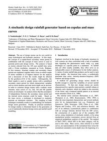A Stochastic Design Rainfall Generator B... by Vandenberghe, S.