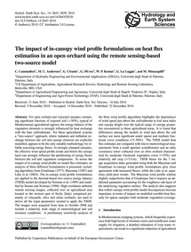 The Impact of In-canopy Wind Profile For... by Cammalleri, C.