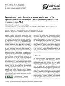 Less Rain, More Water in Ponds: a Remote... by Gardelle, J.