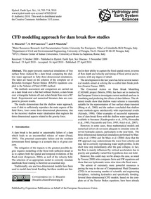 Cfd Modelling Approach for Dam Break Flo... by Biscarini, C.