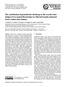 The Contribution of Groundwater Discharg... by Schmidt, A.