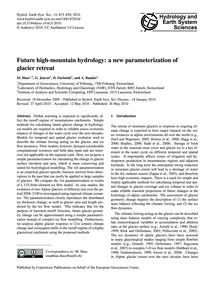 Future High-mountain Hydrology: a New Pa... by Huss, M.