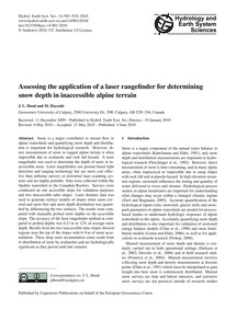 Assessing the Application of a Laser Ran... by Hood, J. L.