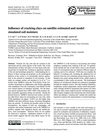 Influence of Cracking Clays on Satellite... by Liu, Y. Y.