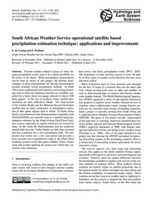 South African Weather Service Operationa... by De Coning, E.