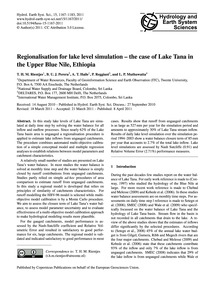 Regionalisation for Lake Level Simulatio... by Rientjes, T. H. M.