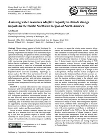 Assessing Water Resources Adaptive Capac... by Hamlet, A. F.
