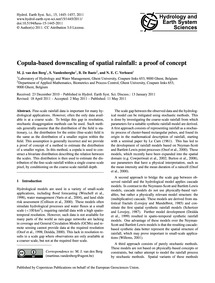 Copula-based Downscaling of Spatial Rain... by Van Den Berg, M. J.