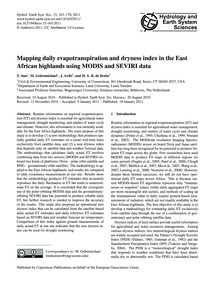 Mapping Daily Evapotranspiration and Dry... by Sun, Z.