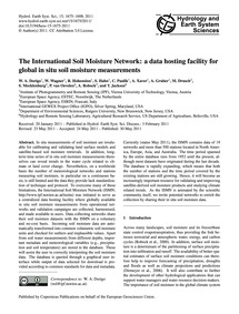 The International Soil Moisture Network:... by Dorigo, W. A.