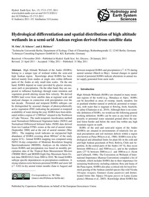 Hydrological Differentiation and Spatial... by Otto, M.