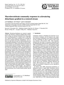 MacRoinvertebrate Community Responses to... by Muehlbauer, J. D.