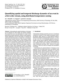 Quantifying Spatial and Temporal Dischar... by Westhoff, M. C.