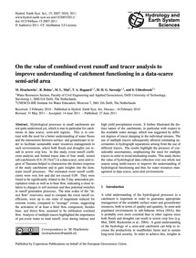 On the Value of Combined Event Runoff an... by Hrachowitz, M.