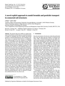A Novel Explicit Approach to Model Bromi... by Klaus, J.