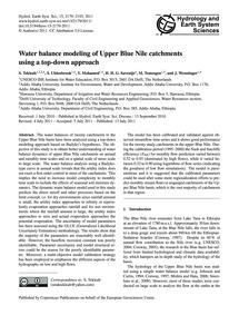 Water Balance Modeling of Upper Blue Nil... by Tekleab, S.