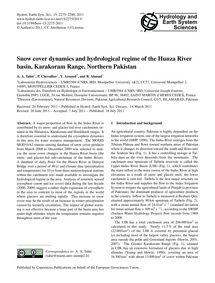Snow Cover Dynamics and Hydrological Reg... by Tahir, A. A.