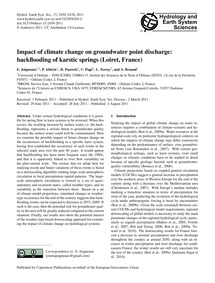 Impact of Climate Change on Groundwater ... by Joigneaux, E.