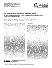 Fog Interception by Ball Moss (Tillandsi... by Guevara-escobar, A.