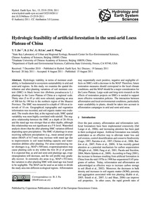Hydrologic Feasibility of Artificial For... by Jin, T. T.