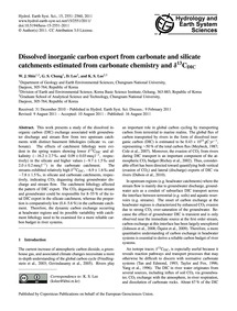 Dissolved Inorganic Carbon Export from C... by Shin, W. J.