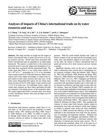 Analyses of Impacts of China's Internati... by Zhang, Z. Y.