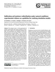 Infiltration-soil Moisture Redistributio... by Morbidelli, R.