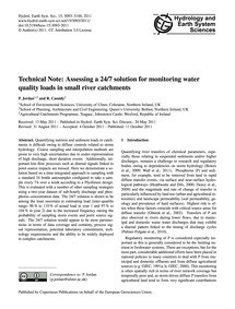 Technical Note: Assessing a 24/7 Solutio... by Jordan, P.