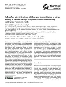Subsurface Lateral Flow from Hillslope a... by Zhang, B.