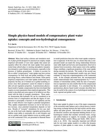 Simple Physics-based Models of Compensat... by Jarvis, N. J.