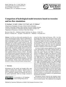 Comparison of Hydrological Model Structu... by Staudinger, M.