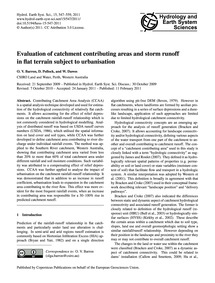 Evaluation of Catchment Contributing Are... by Barron, O. V.