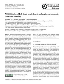 Hess Opinions: Hydrologic Predictions in... by Schaefli, B.