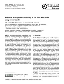 Sediment Management Modelling in the Blu... by Betrie, G. D.