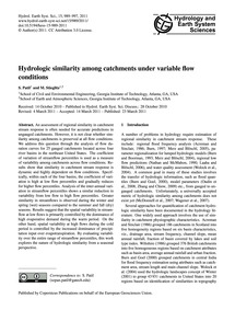 Hydrologic Similarity Among Catchments U... by Patil, S.