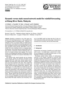 Dynamic Versus Static Neural Network Mod... by El-shafie, A.