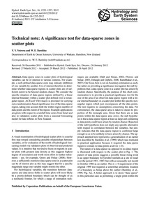 Technical Note: a Significance Test for ... by Vetrova, V. V.