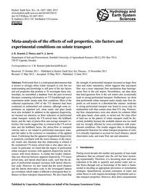 Meta-analysis of the Effects of Soil Pro... by Koestel, J. K.