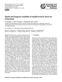 Spatial and Temporal Variability of Rain... by Meusburger, K.