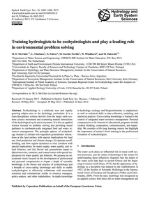 Training Hydrologists to Be Ecohydrologi... by McClain, M. E.