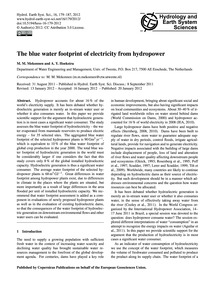 The Blue Water Footprint of Electricity ... by Mekonnen, M. M.