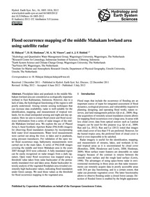 Flood Occurrence Mapping of the Middle M... by Hidayat, H.