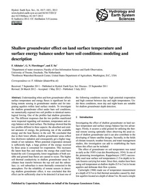 Shallow Groundwater Effect on Land Surfa... by Alkhaier, F.